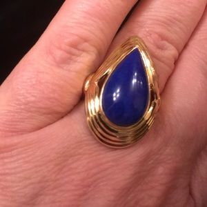 Jewelry - 14 KT LAPIS GOLD RING